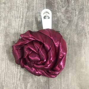 Lane Bryant Magenta Purple Rose Hair Clip